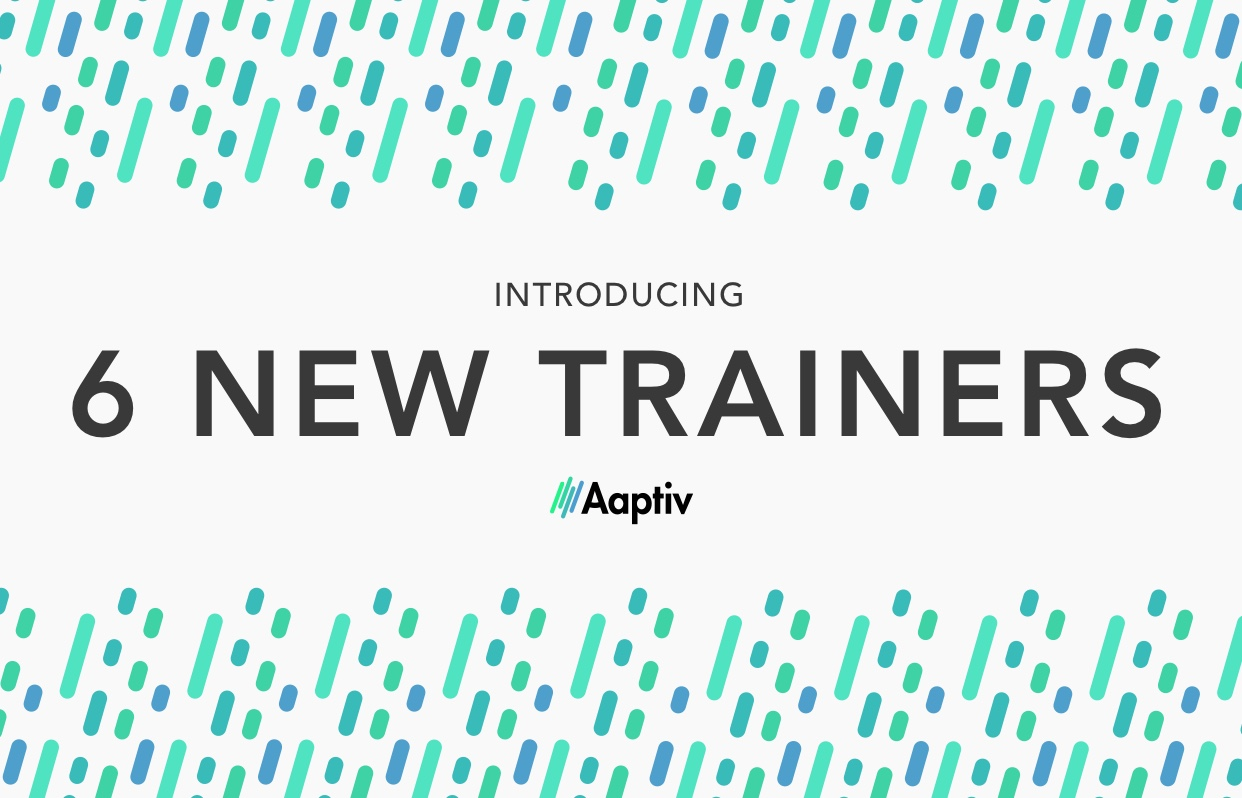 new trainers in aaptiv