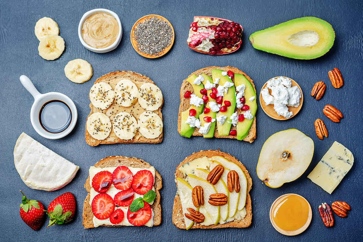 toast with toppings