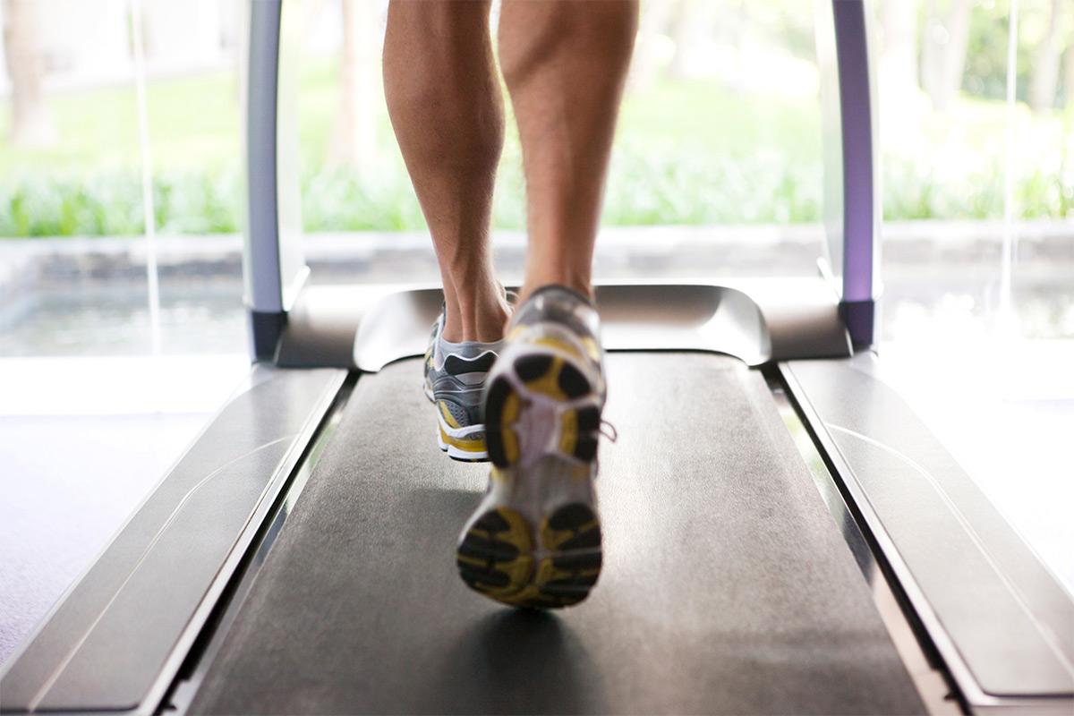 man treadmill walking