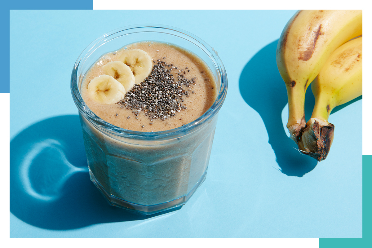 coffee and running smoothie