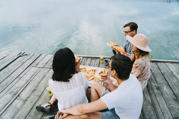friends eat cheat meals