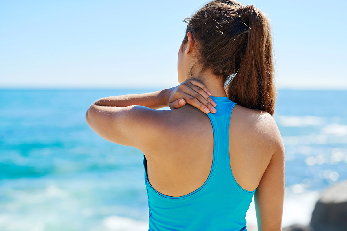 woman works out with fibromyalgia