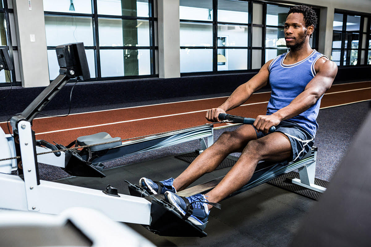 how to set up a rowing machine