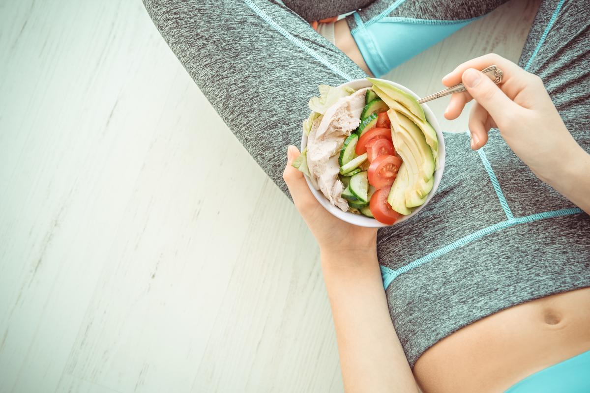 woman eats enough protein
