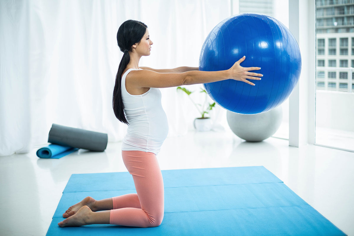 How To Use An Exercise Ball During Pregnancy Aaptiv