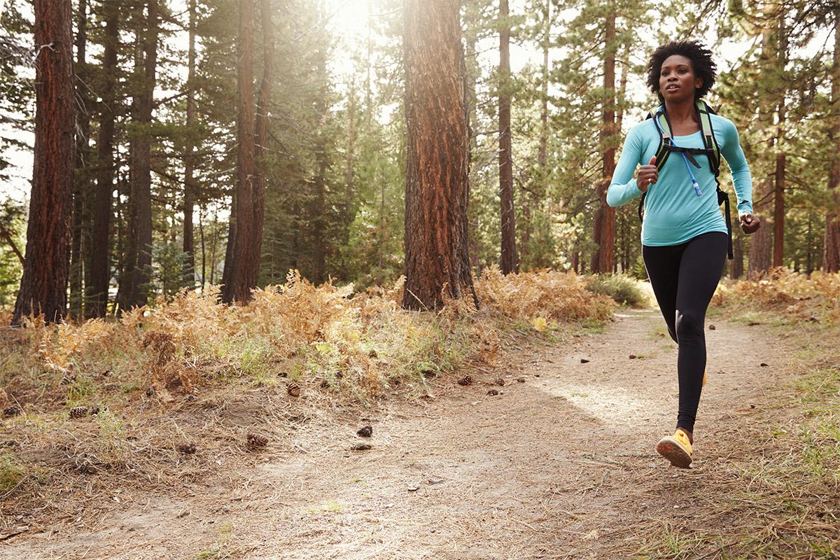 woman running to build bone strength
