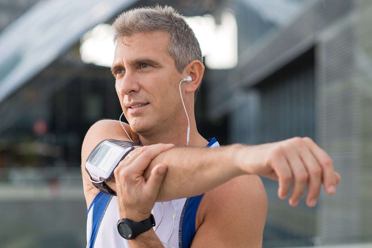 man lower blood pressure with exercise