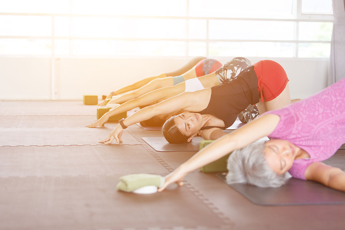 women not too old for yoga