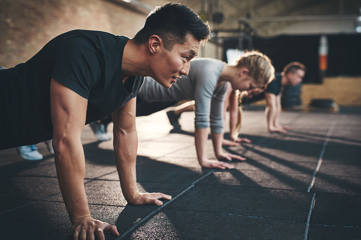man does shorter workout