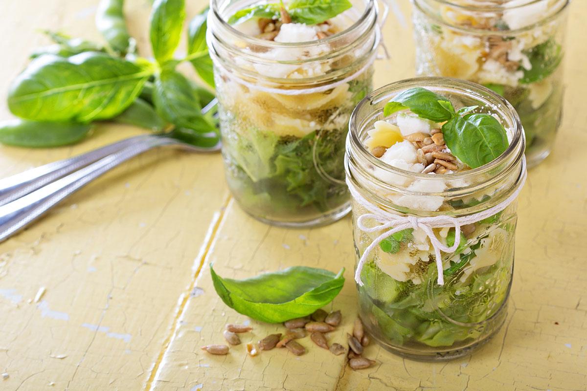 mason jar recipes with salad