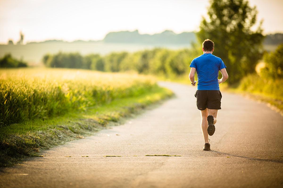 man runs destination races