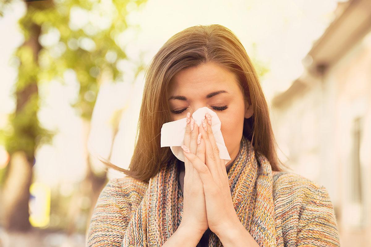 woman with seasonal allergies