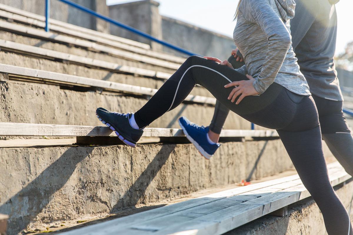 woman does leg exercises to avoid injury
