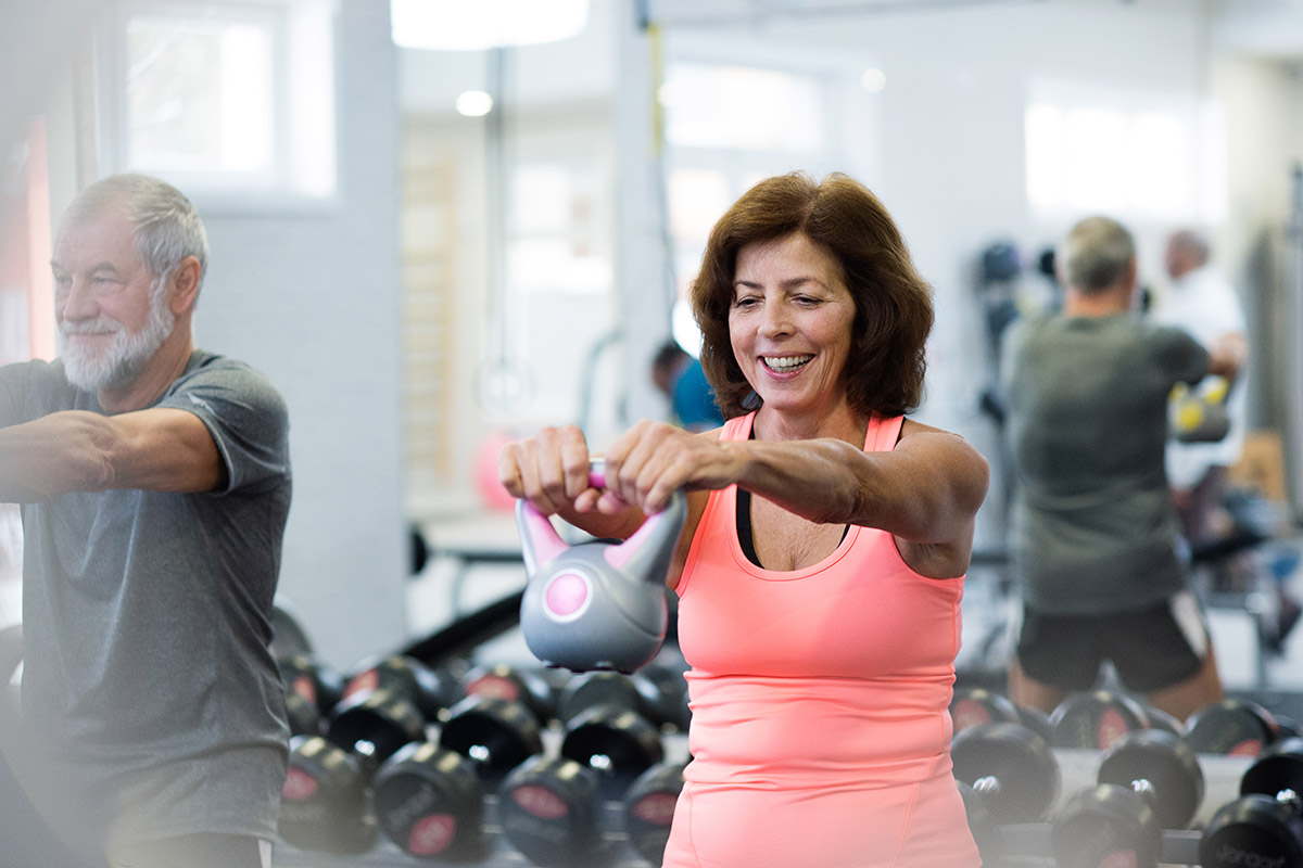 older woman works out to regain your fitness