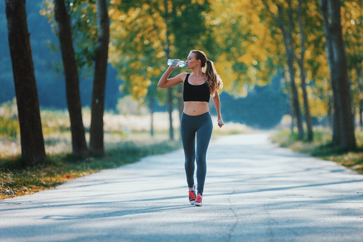 woman make walking workouts more intense