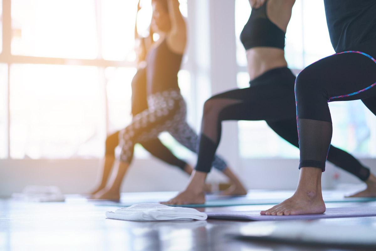 woman do yoga and pilates